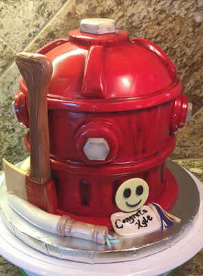 fire hydrant custom cake | Hollister, CA | Creative Cakes By Helen
