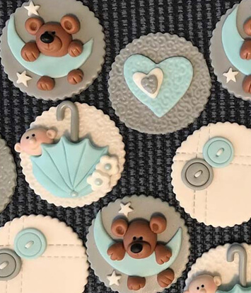 Baby Shower Custom Cupcake Toppers | Hollister, CA | Creative Cakes By Helen