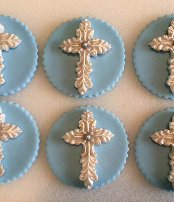 Cross Cupcake Toppers | Hollister, CA | Creative Cakes By Helen